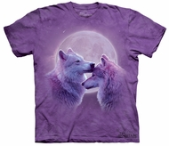 Wolf Kids Shirt Tie Dye Loving Wolves T-shirt Tee Youth