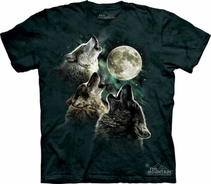 Wolf Shirt Three Wolf Moon Tie Dye T-shirt Adult Tee