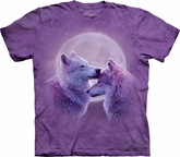 Wolf Shirt Tie Dye Loving Wolves Adult T-shirt Tee