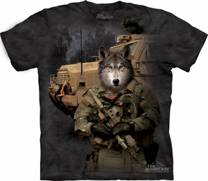 Wolf Shirt Tie Dye Military JTAC Lonewolf T-shirt Adult Tee