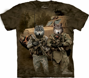 Wolf Shirt Tie Dye Military JTAC Wolfpack T-shirt Adult Tee