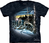 Wolf Shirt Tie Dye T-shirt Find 13 Wolves Adult Tee