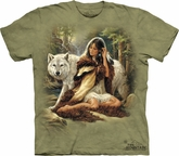 Wolf Shirt Tie Dye T-shirt Protector Adult Tee