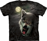Wolf Shirt Tie Dye T-shirt Wolves Night Breed Tree Adult Tee