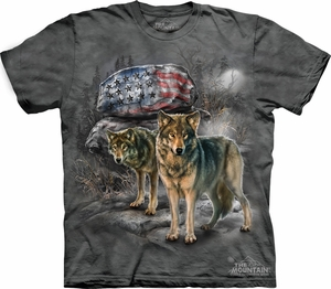 Wolf Shirt Tie Dye T-shirt Wolves Pride Rock Adult Tee