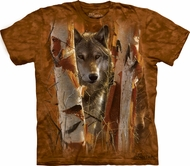 Wolf Shirt Tie Dye T-shirt Wolves The Guardian Adult Tee