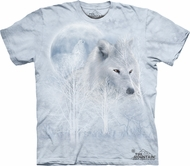 Wolf Shirt Tie Dye White Wolves Moon T-shirt Adult Tee
