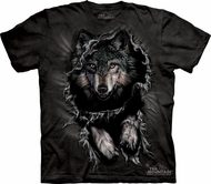 Wolf Shirt Tie Dye Wolves Breakthrough T-shirt Adult Tee