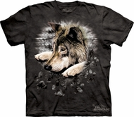 Wolf Shirt Tie Dye Wolves Paw T-shirt Adult Tee