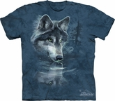 Wolf Shirt Tie Dye Wolves Reflection T-shirt Adult Tee