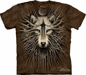 Wolf Shirt Tie Dye Wolves Roots T-shirt Adult Tee