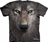 Wolf Shirt Wolves Face T-shirt Tie Dye Adult Tee