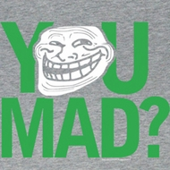 You Mad Juniors Shirt Green Faded High Grey Tee T-Shirt