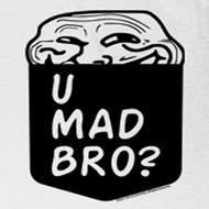You Mad Shirt Troll Pocket Adult White Tee T-Shirt