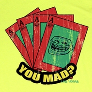 You Mad T-Shirt Mad Cards v2 Adult Yellow Tee Shirt