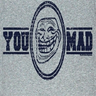 You Mad T-Shirt Mad Gym Adult Heather Grey Tee Shirt