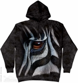 Zebra Eye Hoodie Tie Dye Adult Hooded Sweat Shirt Hoody