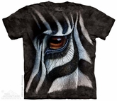 Zebra Eye Shirt Tie Dye Adult T-Shirt Tee