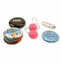 Curiosity Collection - Bullet Vibrator, Ben-Wa Balls and Condoms
