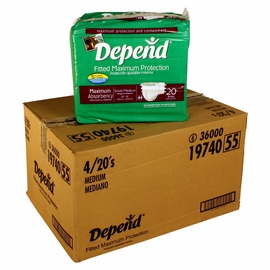 Depend Briefs - Maximum Absorbency - S/M - 80