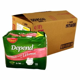 Depend Underwear for Women - Super Plus Absorbency - S/M - 72