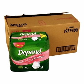 Depend Underwear for Women - Super Plus Absorbency - XL - 56