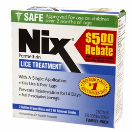 Nix Lice Treatment Family Pack - Works On Pubic Crabs Too!