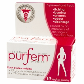 PurFem Probiotic Inserts - Prevent Vaginal Infections