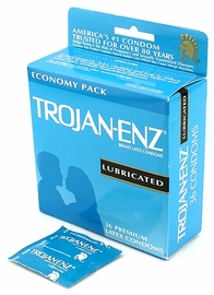 Trojan Enz Condoms - Lubricated Condoms - 36 pack