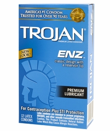 Trojan Enz Condoms - Lubricated - 12 pack