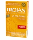 Trojan Ultra Ribbed Condoms With Spermicidal Lubricant - 12