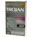 Trojan Ultra Thin Lubricated Condoms - 12