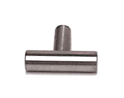 """Brushed Stainless Steel Bar Knob - 1-9/16"""" (40mm) L-P02140-SS-C"""