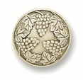 Liberty Knob - Carved Triple Grape Cluster 42mm L-PN1725-IVR-C