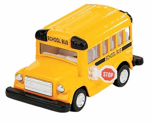 "3-3/4"" Die Cast Shorty School Bus Collectible"