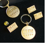 5 Star Performer Key Rings ! Special Purchase!