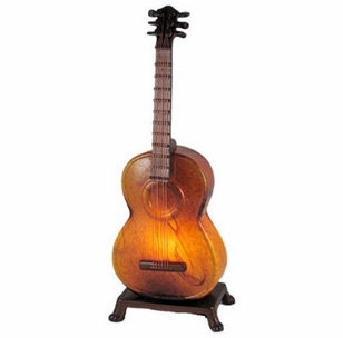 Acoustic Guitar Amber Swirl Lamp