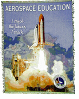 "Aerospace Education Woven Throw -  48"" X 60"" - DISCONTINUED! - on SALE!"