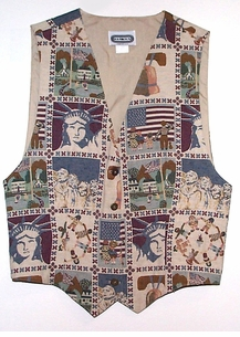 America the Great <BR>Tapestry Vest