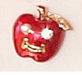 Apple Smiley Tac Pin - $3.95  CLOSEOUT!