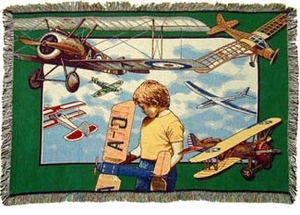 Aviation Youth Woven Throw