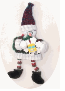 BEST VALUE! Cute Cloth Santa & Snowman School Bus Ornaments--ON SALE!