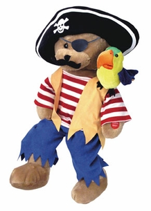 Cap�n Salty the Pirate singing Bear & Parrot Duo