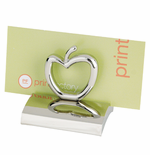 Chrome Apple Business Card Holder - Blank or Imprinted