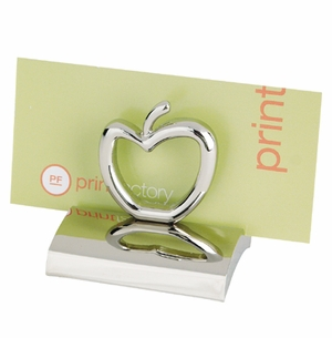 Chrome Apple Business Card Holder - Blank  (New Lower Pricing!) or Imprinted
