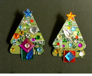 Circuitboard Christmas Tree Pins --ON SALE!