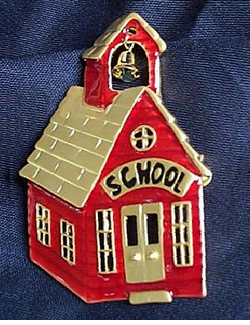 Classic Red School House Fashion Pin