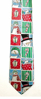 CLEARANCE!   Silk Christmas Necktie - ONLY $6,00!