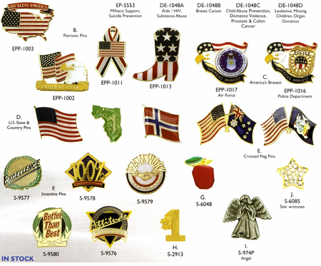 Click here to see <BR>More Stock Incentive Pins