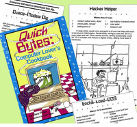 Collectible - Quick Bytes  computer cookbook -CLEARANCE!
